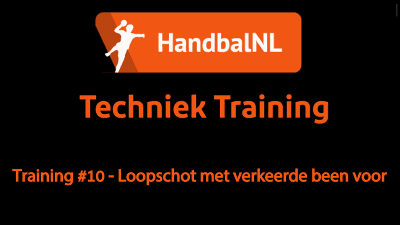 Training #10 – Loopschot met verkeerde been voor
