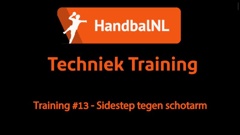 Training #13 – Sidestep tegen schotarm