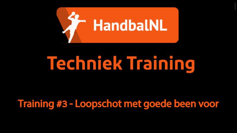 Training #3 – Loopschot met goede been voor