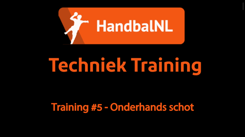 Training #5 – Onderhands schot